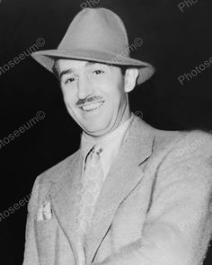 Walt Disney With Hat 1938 Vintage 8x10 Reprint Of Old Photo Walt Disney With Hat…