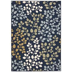 Nourison Caribbean (CRB01) Navy Rectangle Area Rug, 5-Fee...