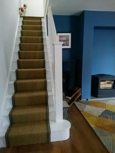 Sisal on the stairs! Leicester, Alternative Flooring, Open Plan Living, Luxury Vinyl, Wooden Flooring, Detached House, Stairs, Sisal, Modern