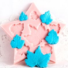 Silicone Mold - Maple Leaf - six cavity flexible mold for fondant, gumpaste, candy and clay mold. $7.00, via Etsy.