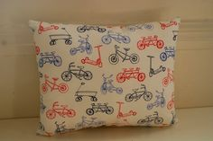 Bicycle Print Mini Cushion. £10.00, via Etsy.