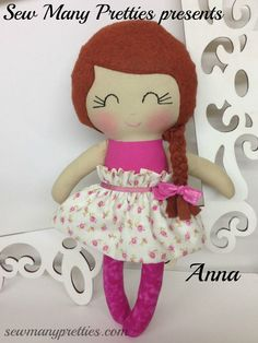 "15"" Handmade Doll- Anna from Sew Many Pretties"