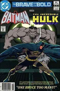 Super-Team Family: The Lost Issues!: Batman and The Hulk (Gray) Comic Book Characters, Comic Book Heroes, Marvel Characters, Comic Character, Comic Books Art, Dc Comics, Archie Comics, Batman Comics, Marvel Fan Art