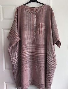 OSFA-Oska-Linen-Tunic-Dress-Oversized-Lagenlook-80in-Chest Linen Tunic Dress, Batik Dress, Linen Dresses, Comfortable Outfits, Casual Outfits, Mix Match Outfits, African Blouses, Clothing Patterns, Plus Size Fashion