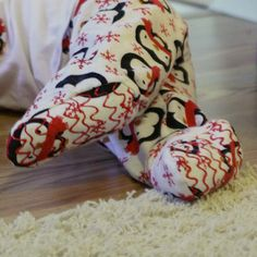 Adding footies to pajamas - great for little ones that won't keep socks on. Might even need to add these to all baby pants, not just PJs!
