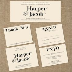 Wedding Invitation Set Modern Deco A Print by SpringLakeStationery Spring Wedding Invitations, Wedding Invitation Design, Et Phone Home, Wedding Themes, Wedding Ideas, Types Of Lettering, Paper Goods, Rsvp, Marriage