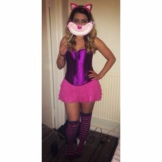 #cheshirecat #cheshirecatcostume #party Cheshire Cat Costume, Cat Makeup, Halloween, Party, Instagram Posts, Style, Fashion, Swag, Moda