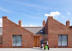 Brick bungalows provide social housing for elderly residents