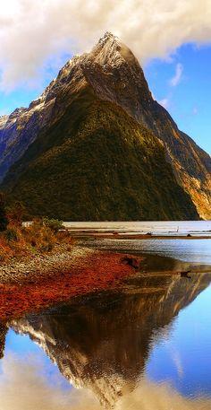 Mitre Peak - Milford Sound, Fiorland, South Island, New Zealand