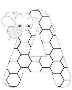 Pour apprendre les lettres, je vous propose une nouvelle série de coloriages à imprimer. On commence par la lettre A (ordre alphabétique oblige) et sa petite abeille. A télécharger ici.