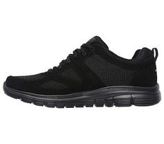 Skechers Men's Burns Agoura Memory Foam Training Shoes (Black/Black)