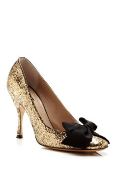 Glitter Galactica Pump with Grosgrain Bow by Marc Jacobs
