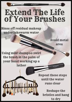An easy guide to clean makeup brushes