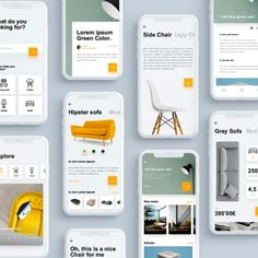 UI Design Resources, UI Kits, Wireframes, Icons and Ios App Design, Mobile App Design, Web Design, Logo Design, Mobile Ui, Ui Design Tutorial, Small Bedroom Furniture, Furniture Layout, Metal Furniture