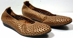 Women's arche Lilly Gold Metallic Leather ballet flats shoes sz 12 / 43 #Arche #BalletFlats