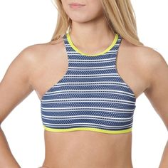 Route 101 Sport Juniors Set Sail Striped Racerback Bikini Top Racerback Bikini, Set Sail, Bikini Tops, Bikinis, Swimwear, Bra, Sports, Closet, Women