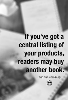 Why is it important to have a single landing page for all your books? When a reader completes a book, they may click on your name on their Kindle or iPad. If you've got a central listing of your products, the chances are good they may buy something else. Most importantly, it provides an additional level of professionalism to your profile…