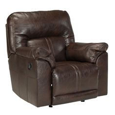 Cozy up with a good book in this faux leather rocker recliner. (Matching Sofa and Loveseat also available.) Barrettsville Rocker Recliner | Weekends Only Furniture and Mattress