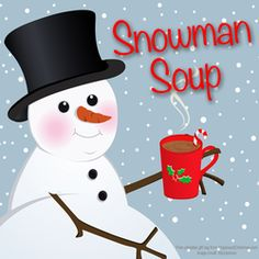 Snowman Soup {hot chocolate with peppermint stirring stick and a hershey kiss and a marshmallow} with 7 gift tags you can print out and a fun poem! <3