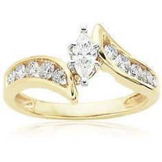 marquise engagement rings yellow gold - Google Search