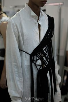 Ann Demeulemeester S/S17 - Backstage | StyleZeitgeist Magazine