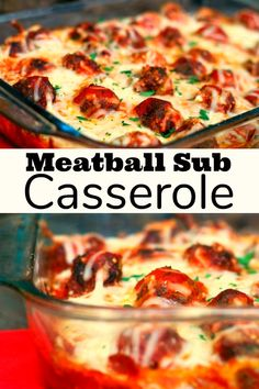 This Meatball Sub Casserole is the best thing we have eaten all month! It's so easy to prepare and incredibly family-friendly! Everything you love about Meatball Subs you will find in this belly warming Italian casserole. Vegetarian Barbecue, Barbecue Recipes, Vegetarian Cooking, Vegetarian Recipes, Delicious Recipes, Meatball Sub Casserole, Meatball Subs, Meatball Recipes, Easy Casserole Recipes