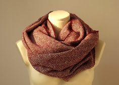 Super Warm Infinity Scarf Wool Burgundy & Ivory - Herringbone Winter Fashion-Neck warmer- Cowl. $25.00, via Etsy.  http://www.etsy.com/listing/115866298/super-warm-infinity-scarf-wool-burgundy?http://www.etsy.com/listing/115866298/super-warm-infinity-scarf-wool-burgundy?#
