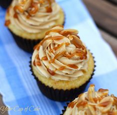 Peanut Butter Vanilla Cupcakes | Your Cup of Cake