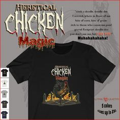 weird funny horror magic chicken esoteric clothing Magic Chicken, Funny Horror, Graffiti, Gothic, Weird, Doodles, Clothing, Outfits, Goth