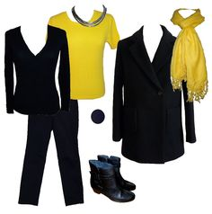 ootd-23-2-17 yellow with navy