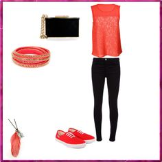 """""""Orange Fashion. -♥"""" by comeback38 ❤ liked on Polyvore"""