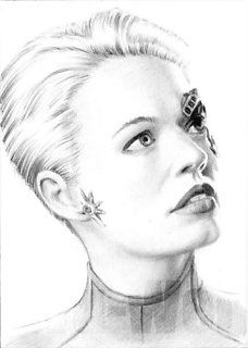 Seven of Nine ACEO portrait by whu-wei.deviantart.com on @deviantART