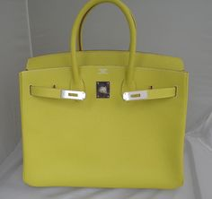 f16d404d7bae 30cm Lime Candy Epsom Leather Hermes Birkin from 2016. Sensibly priced at  8