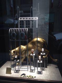 Grand Palais-inspired window display at Cartier