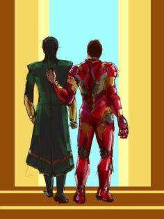Loki & Iron Man. Frostiron.