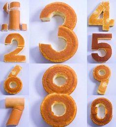 Как сделать торт в виде цифры своими руками