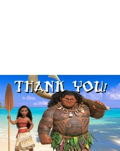 And here are some free printable Moana thank you cards for all those awesome presents the kids receive: I created them so you can p...