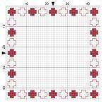 Beads 002 Cross Stitch Border - by StitchMeKnot.com