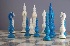 The camel bone chess pieces are carved and then stained to create a unique beauty in chess. Chess Quotes, One Night In Bangkok, Chess Set Unique, Chess Table, Sailor Moon Aesthetic, London Museums, Sailor Mercury, Chess Pieces, Toy Soldiers