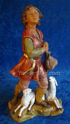 Roman 5 Elijah Shepherd Herder Nativity Figure Fontanini