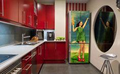 Decor Salteado - Blog de Decoração e Arquitetura : Geladeiras retrôs, coloridas, divertidas e adesivadas!