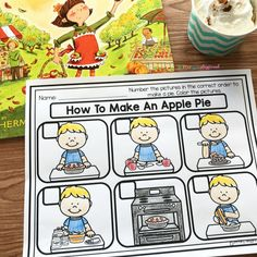 How to make an apple pie sequencing free printable