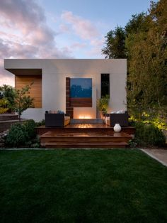patio ultra moderne en bois