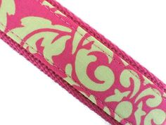 Bright Pink Citron FABRIC KEY FOB Wristlet / Wrist by studioKELLY, $7.50