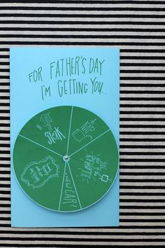 A printable father's day card is my fave