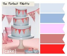 cake http://www.theperfectpalette.com/2012/02/5-festive-ways-to-use-bunting-in-your.html