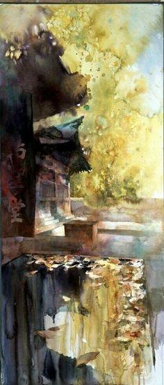 Yuko Nagayama --captures the Japanese garden's tranquility.  Stillness is…