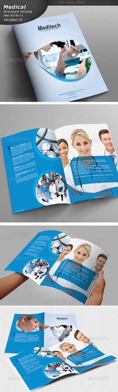 Medical Brochure   #GraphicRiver        Medical Brochure Design Fully editable in illustrator cs5. Source: Eps and Ai Size: 8.5 by 11 Bleed: .25 Images not included Fonts used Nexa fontfabric /nexa-free-font/     Created: 2August13 GraphicsFilesIncluded: VectorEPS #AIIllustrator Layered: Yes MinimumAdobeCSVersion: CS5 PrintDimensions: 8.5x11 Tags: hospitalbrochure #medicalbrochure #medicaldocument #medicalservice