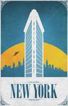 New York; ciudad de Spiderman. Comic Locations por Justin Van Genderen, vía Behance.
