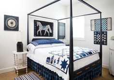 Martingale - Minick and Simpson Blue & White